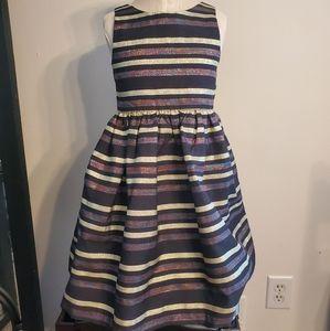 Gymboree Metallic Striped Special Occasion Dress